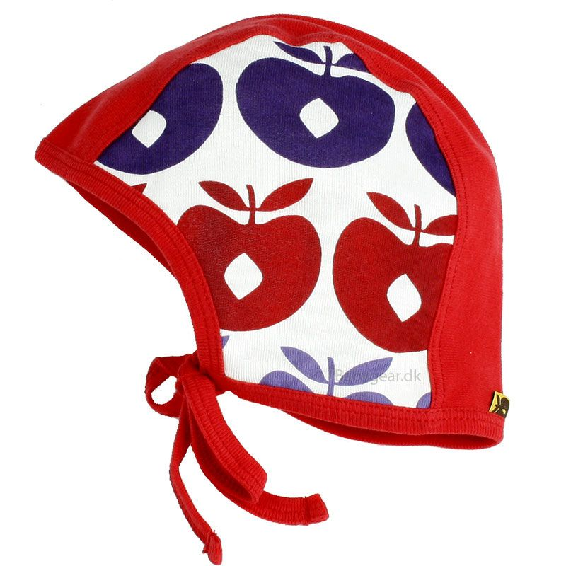 Småfolk Baby hjelm fra småfolk - rød multiæble (øko-tex) på babygear.dk
