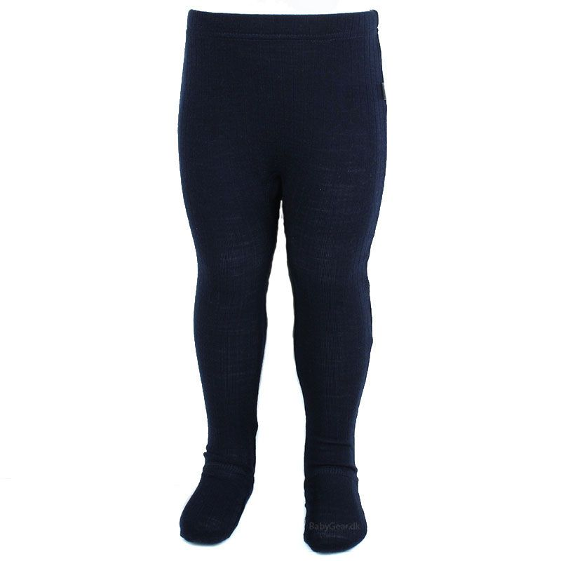 Image of   Leggings m. fod fra Joha - Uld - Marine