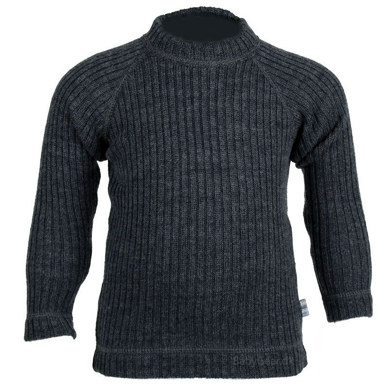 Image of   Sweater fra Joha - Uld rib - Soft Wool - Koksgrå
