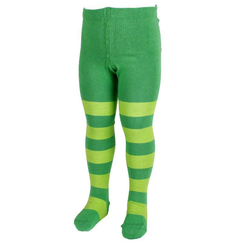 Strømpebukser fra mala - grønne striber fra Mala fra babygear.dk