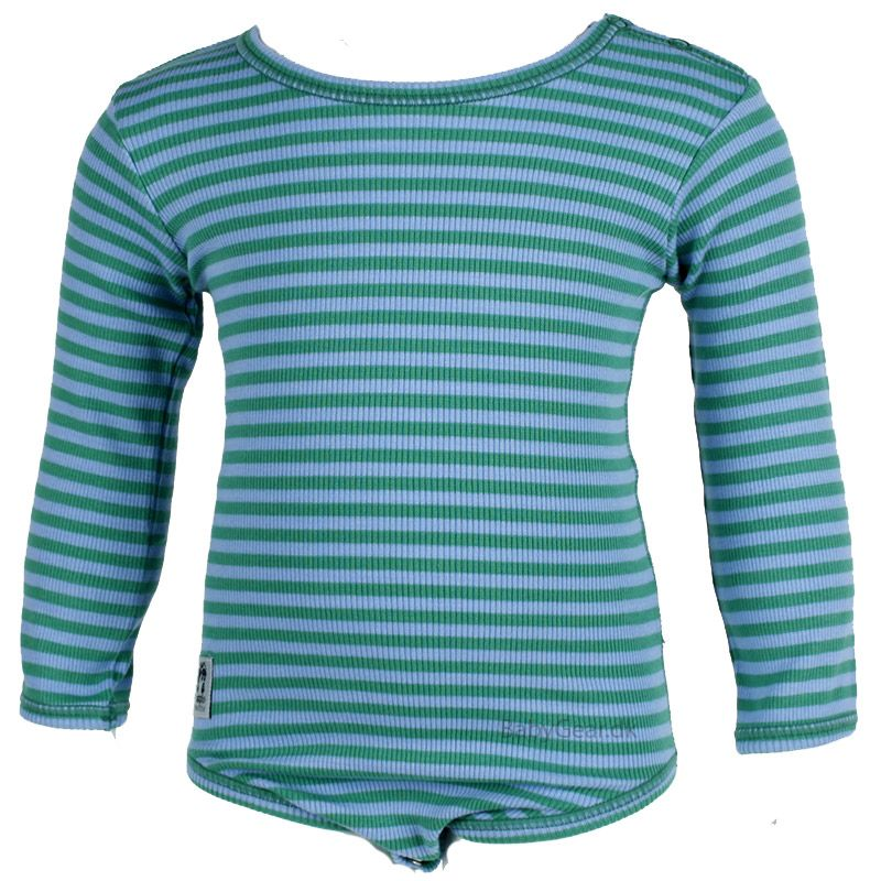 Image of   Body fra Pippi - L/Æ - Rib og Grønne striber (Økotex 100)