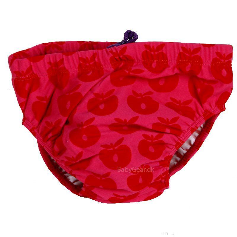 Småfolk Baby badebukser fra småfolk - rød/pink fra babygear.dk