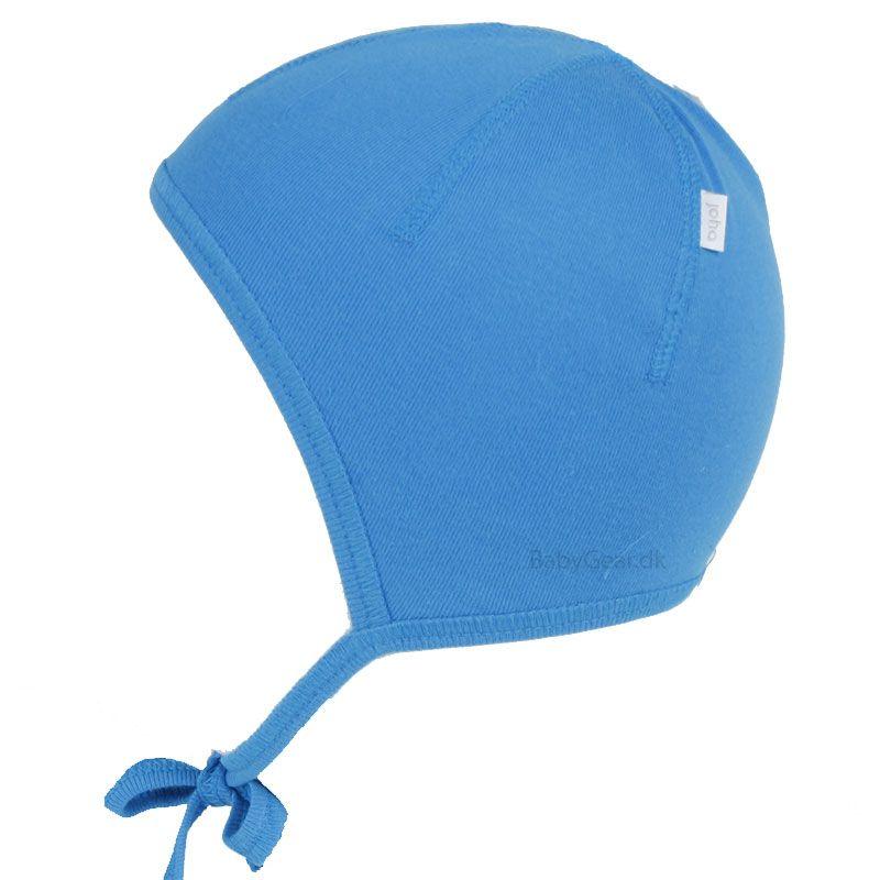 Joha – Hjelm i bomuld fra joha - blå på babygear.dk