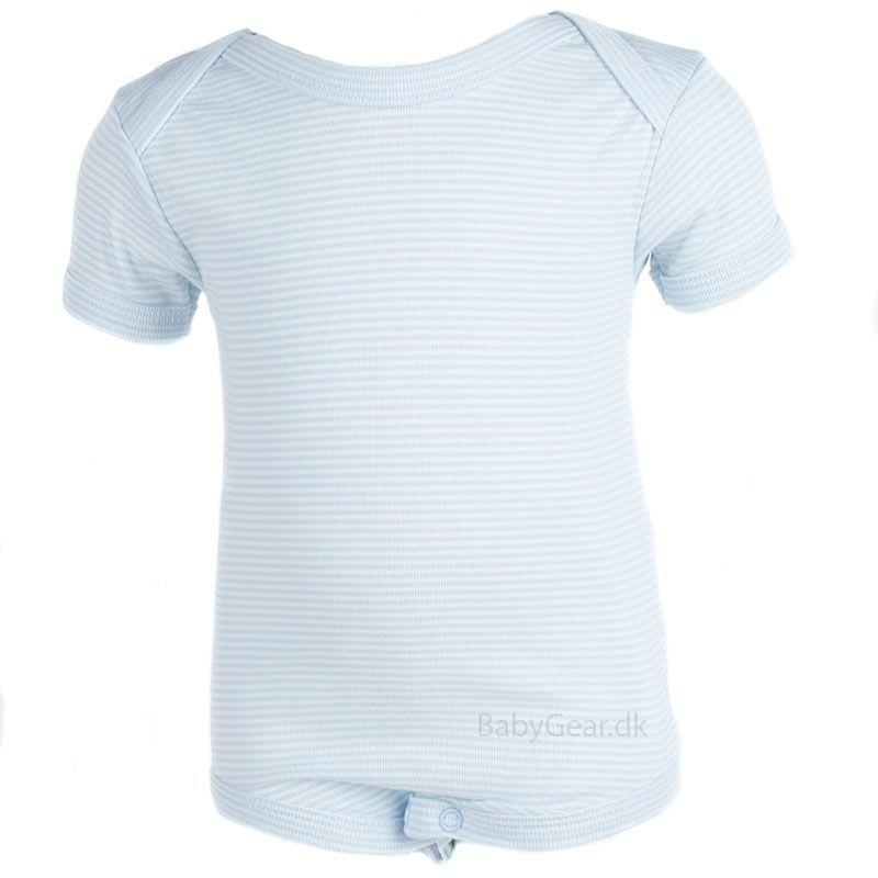 Body fra Joha - Korte ærmer - Blå/Hvid stribet