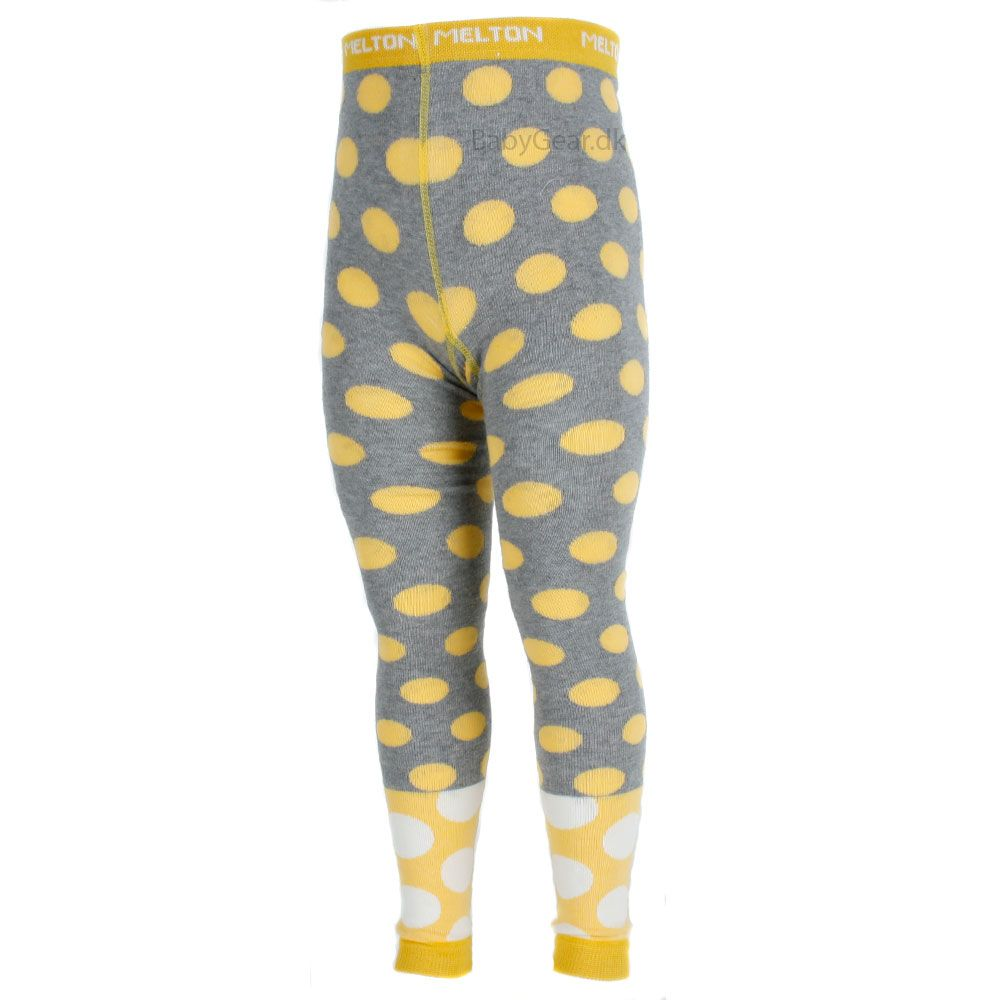 Image of   Leggings fra Melton - Double Bubble - Gul/Grå
