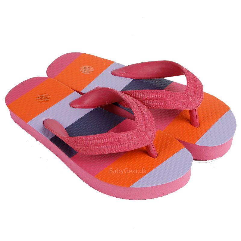 Image of Klip klap sko fra Mikk-Line - Pink m. Striber (3802-745-)