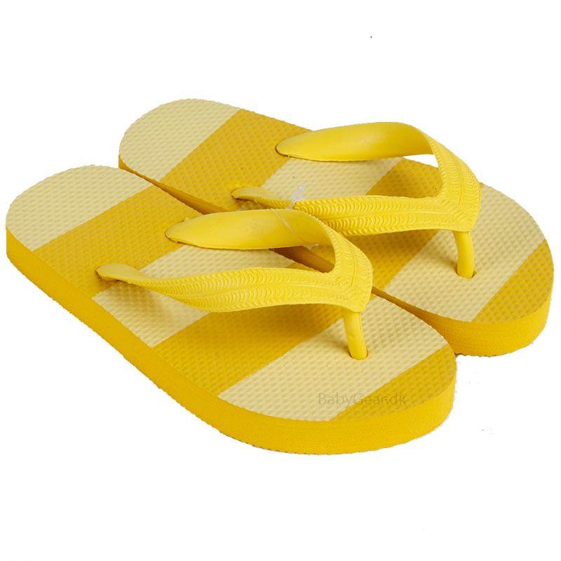 Klip klap sko fra mikk-line - gul fra Mikk-line på babygear.dk