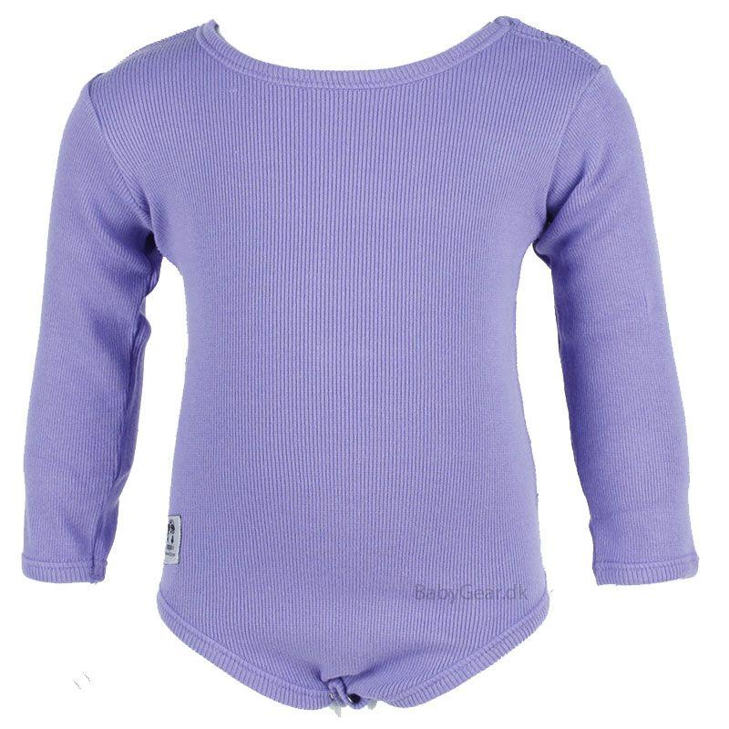 Billede af Body fra Pippi - Lange Ærmer - Lavendel Rib (Økotex 100)