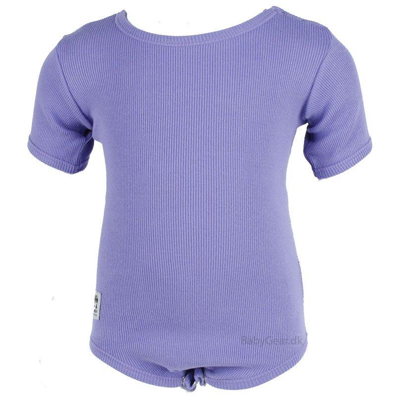Billede af Body fra Pippi - Korte Ærmer - Lavendel Rib (Økotex 100)