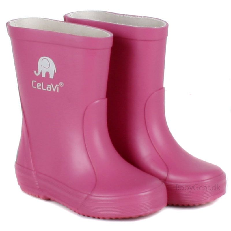 Gummistøvler fra CeLaVi - Pink thumbnail
