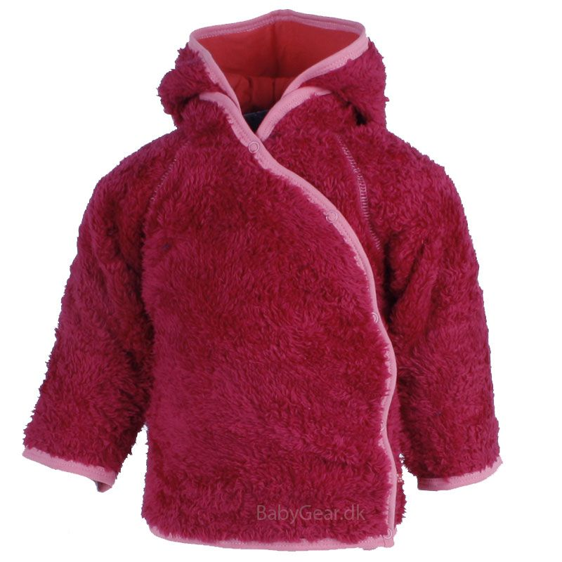 Image of   Fleece jakke fra Pippi - teddy fleece - Hindbær pink