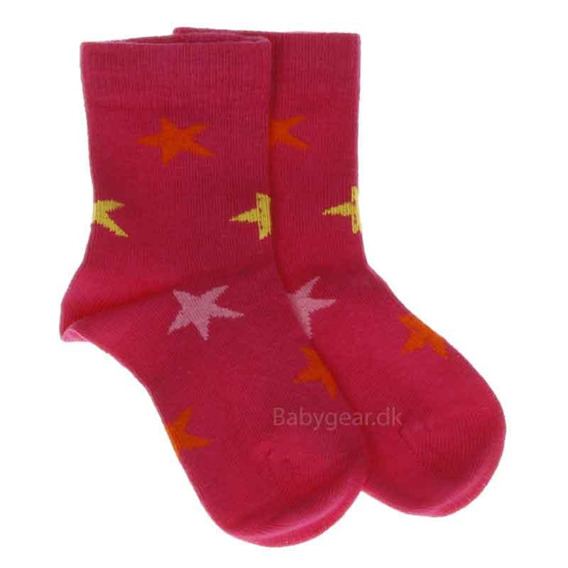 Image of   Smallstuff strømper - Pink m. multi stjerner