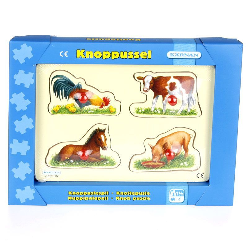 Image of   Knoppuslepil med Bondegårdsdyr (1,5 år+)
