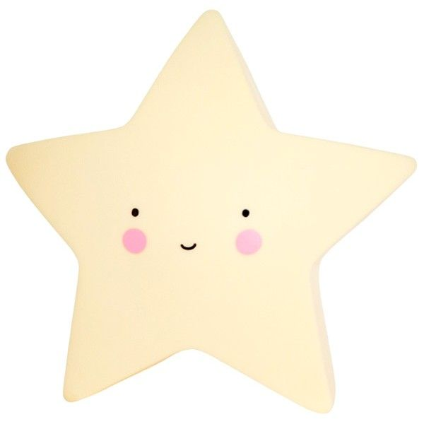 Led lampe fra a little lovely company - mini star yellow fra A little lovely company på babygear.dk