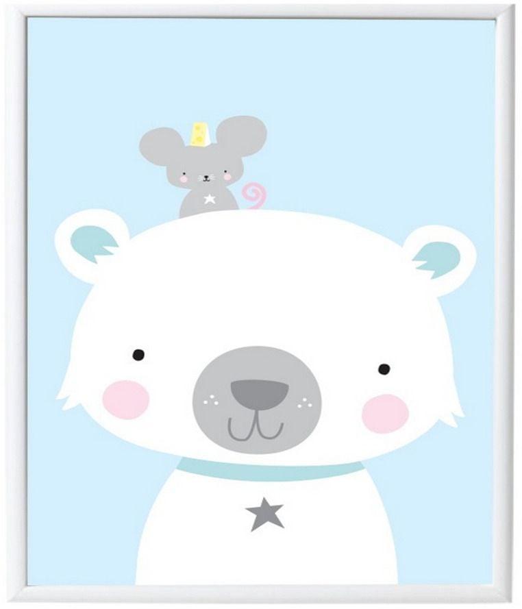 Image of Plakat fra A Little Lovely Company - Polar Bear & Co (50x70) (POPB024)