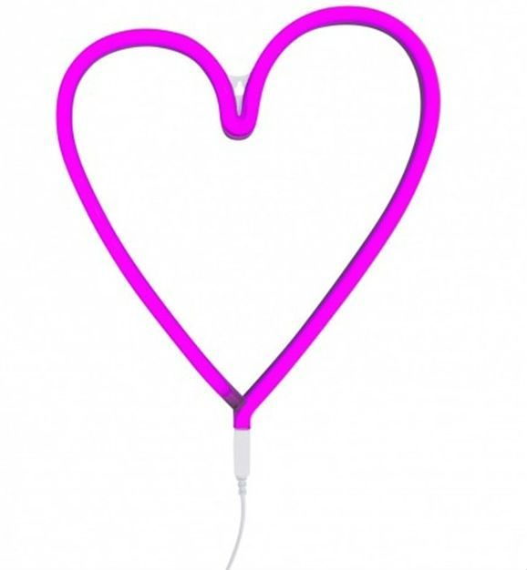 Image of   Lampe fra A Little Lovely Company - Neon - Pink Heart