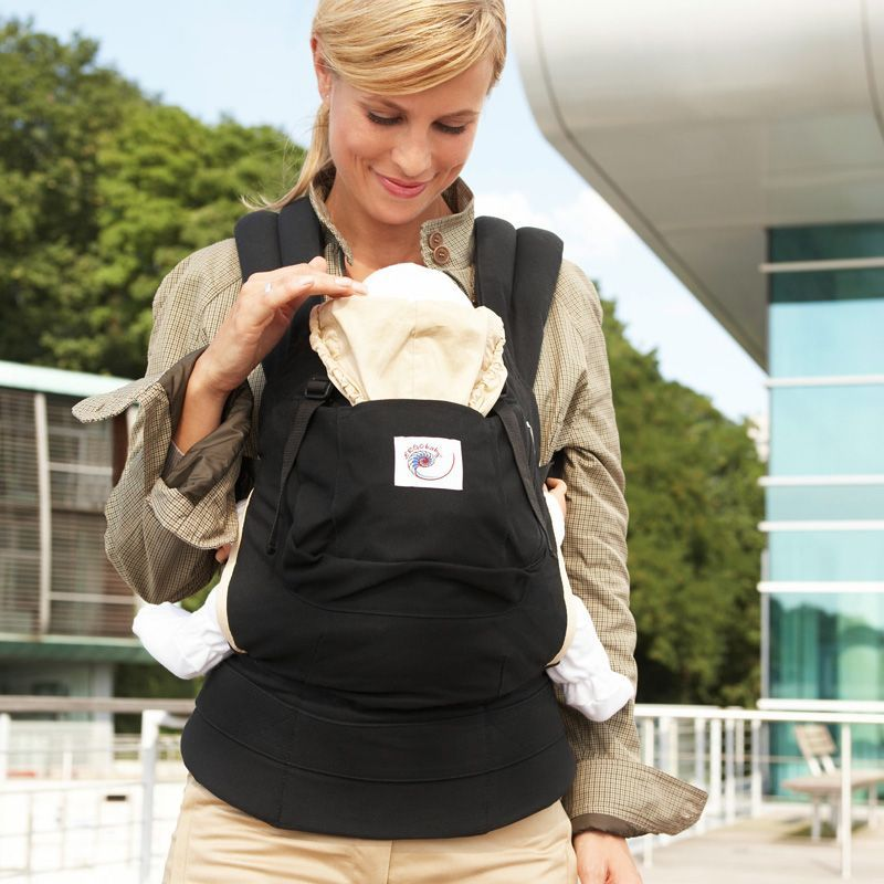 Image of   ERGObaby bæresele - Original Carrier™ - Black/Camel