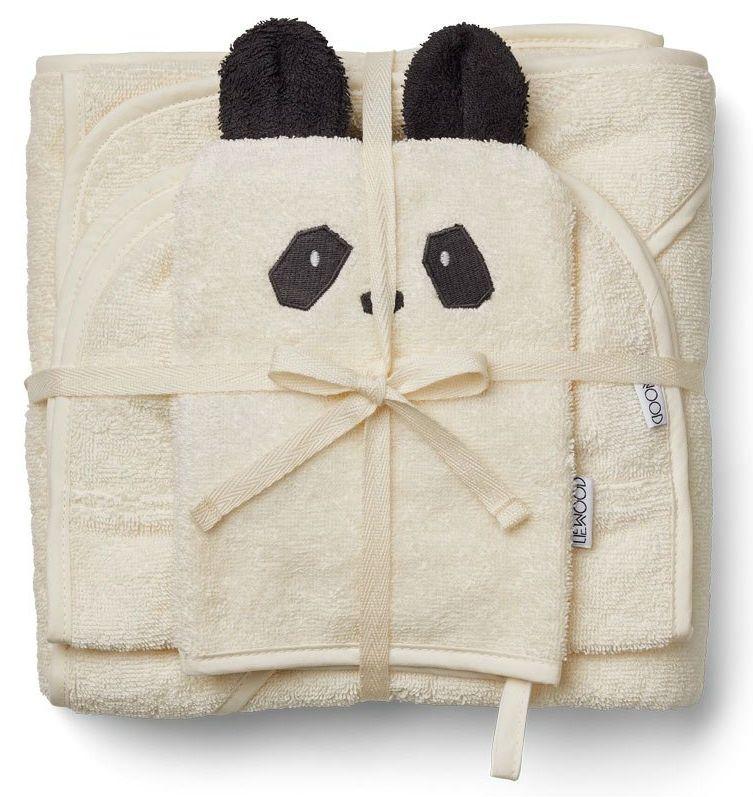 Image of Baby frottépakke m. 3 dele fra Liewood - Panda (LW12607-0010)