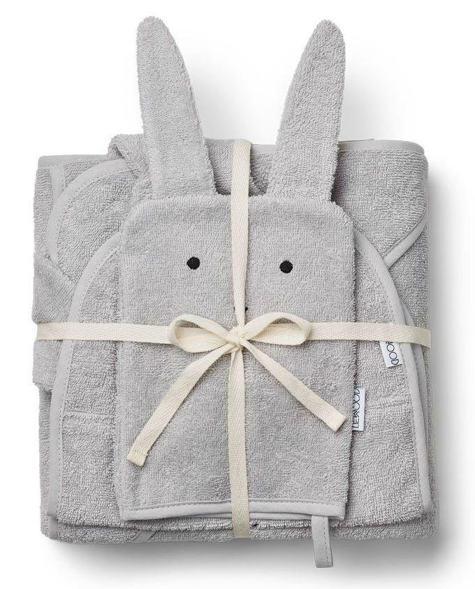 Image of Baby frottépakke m. 3 dele fra Liewood - Rabbit Grey (LW12607-0032)