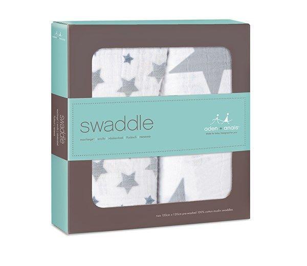 Aden anais Svøb fra aden+anais - swaddle - twinkle (2 stk) fra babygear.dk