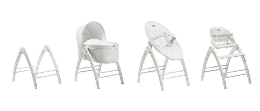Image of Vugge, skråstol og højstol fra BabyDan - Angel pakke (2651-04-01-02)