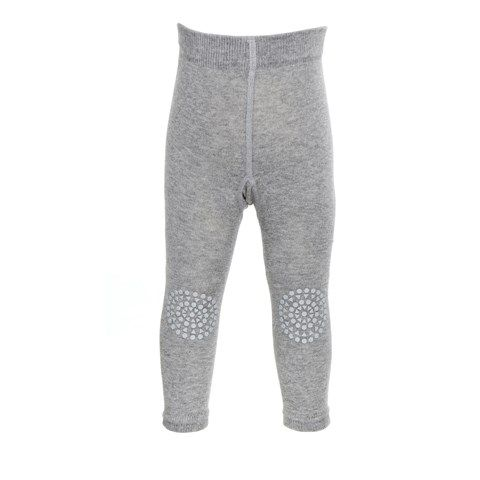 Image of   GoBabyGo kravleleggings (Oeko-tex) - Grey melange