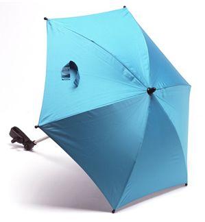 Image of Klapvognsparasol med UV50+ beskyttelse - Aqua (00004250-13)