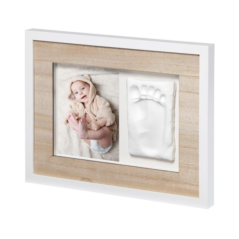 Image of Ramme m. gipsaftryk og billede fra Baby Art - Tiny Style Touch (ART-GFT26)