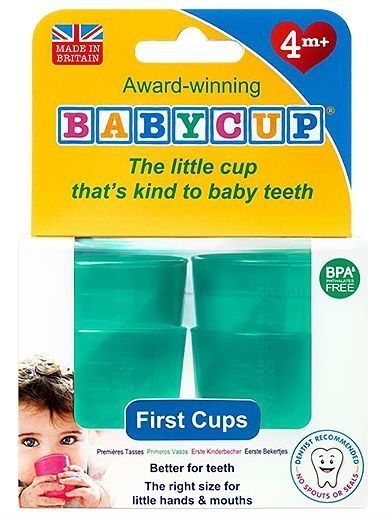 Image of Baby drikkekop fra Babycup - Aqua (4 x 50 ml) (Babycup_FC_Green)