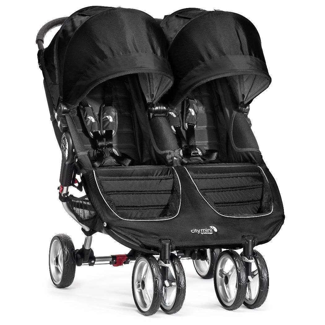 Klapvogn fra Baby Jogger - City Mini Tvilling - Sort
