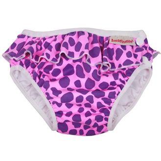 Imsevimse Badeble fra imsevimse - pink leopard på babygear.dk