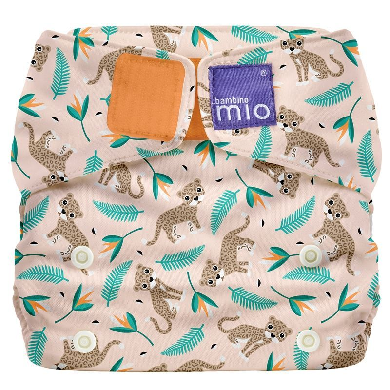 Image of Stofble fra Bambino Mio - Onesize Miosolo All-In-One - Wild Cat (BMO-HYG01-CAT)