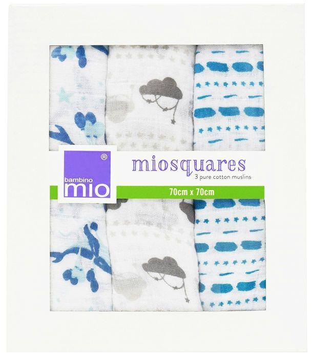 Image of Muslin stofbleer fra Bambino - MioSquares Sail Away (3-pak) (BMO-ACC03)