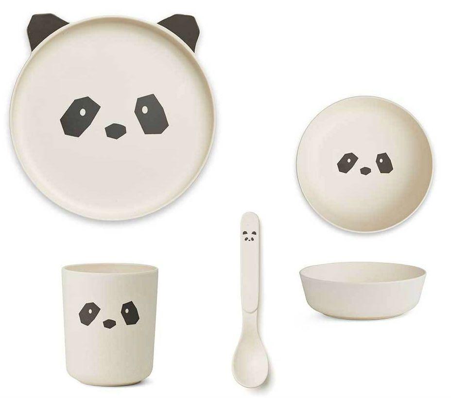 Image of   Spisesæt fra Liewood - Bambus - Panda