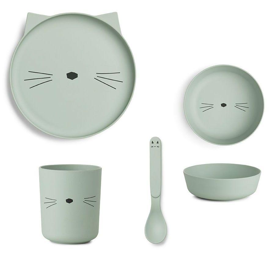 Image of   Spisesæt fra Liewood - Bambus - Dusty mint kat
