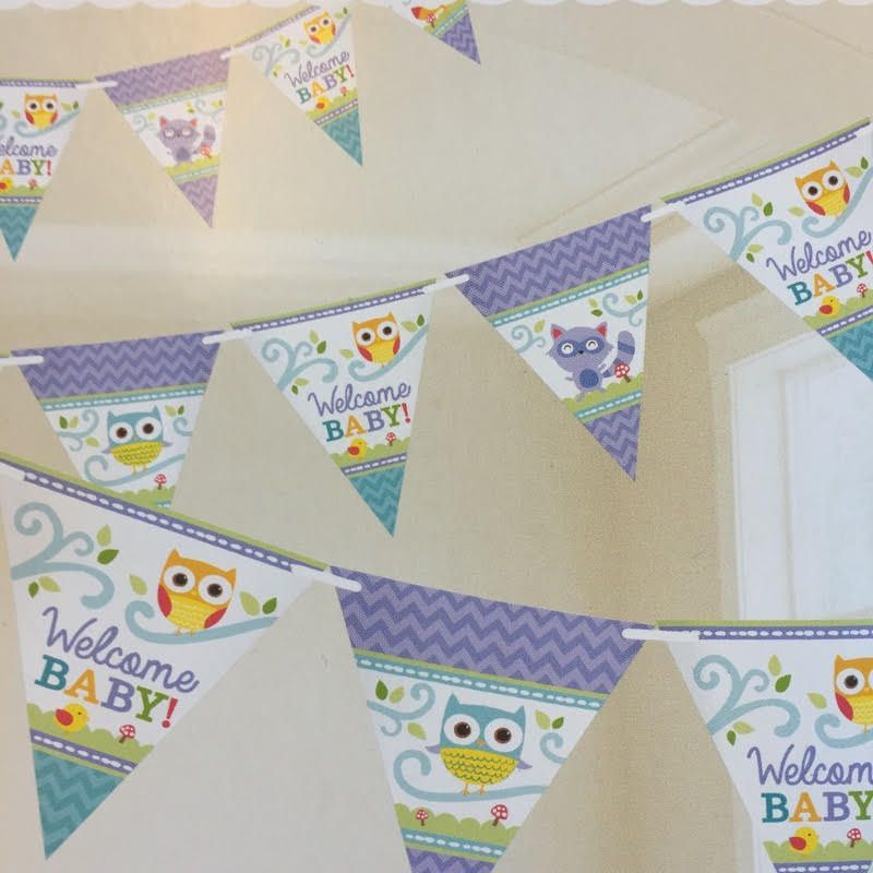 Banner Welcome Baby (4,5m) - Woodland