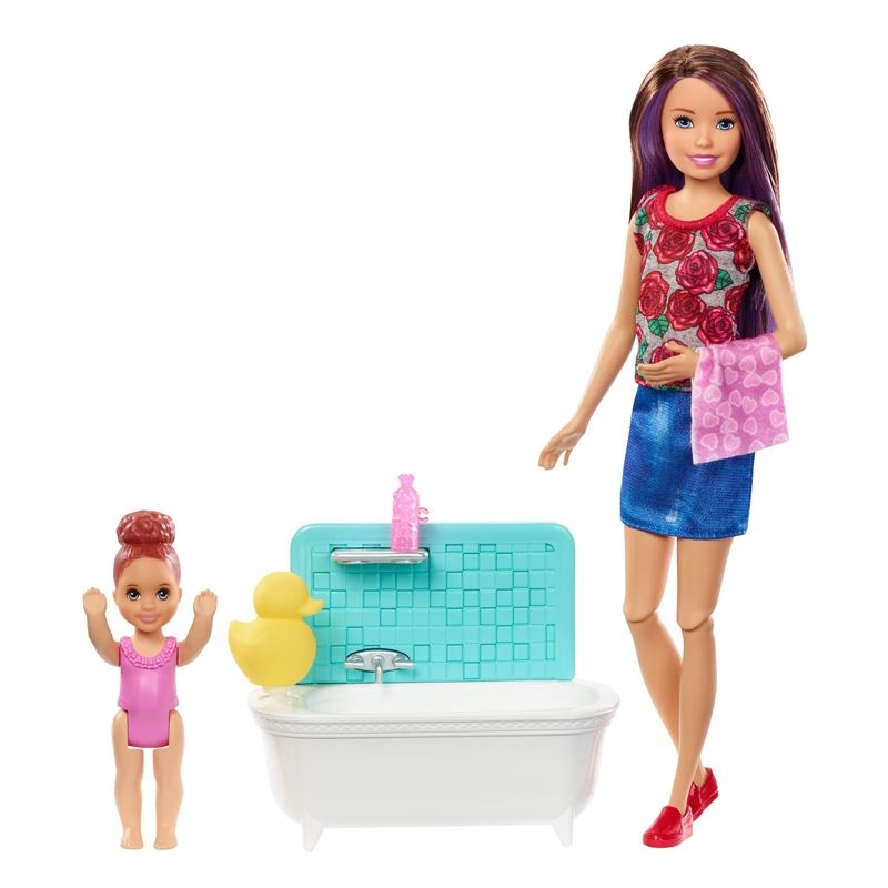 Image of Barbie Skipper Babysitter - Bathtime Playset (BBE-TOY21)