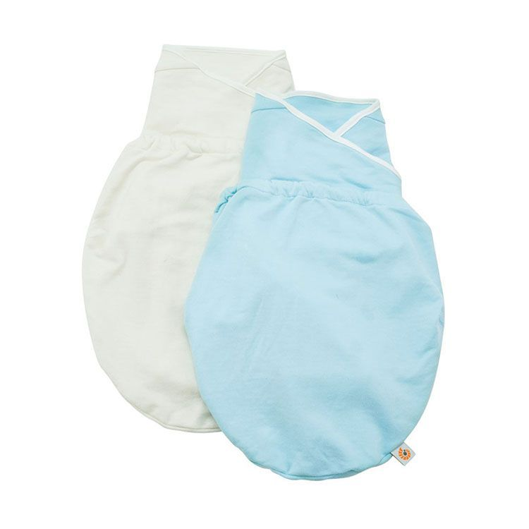 Ergobaby – Ergobaby svøb - swaddler - blå/natural (2 stk) på babygear.dk