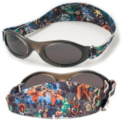 Image of   Solbrille - Baby Banz - Adventure - Black Tattoo