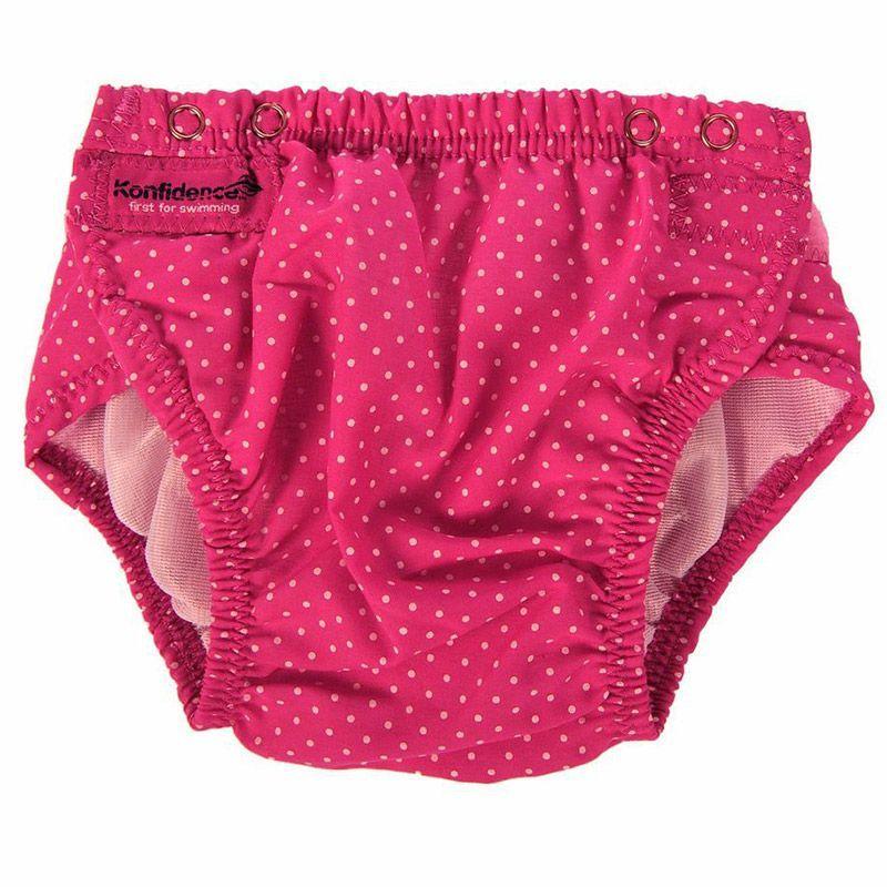 Image of   Baby badebukser fra Konfidence - one size fits all - Pink Polka Dot