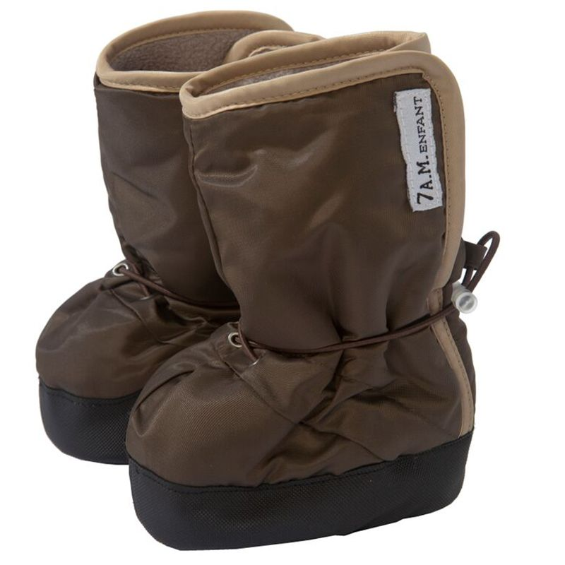 7am Baby støvler m. anti-skrid fra 7 a.m. - baby boots - cafe/beige på babygear.dk
