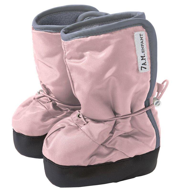 Baby støvler m. anti-skrid fra 7 A.M. - Baby Boots - Rose/Gray