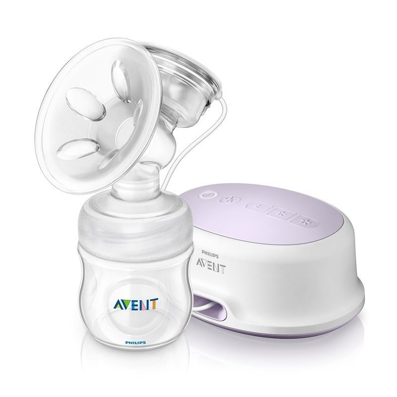 Image of Brystpumpe - Philips Avent NATURAL elektrisk m. 125 ml sutteflaske (8710103579076)