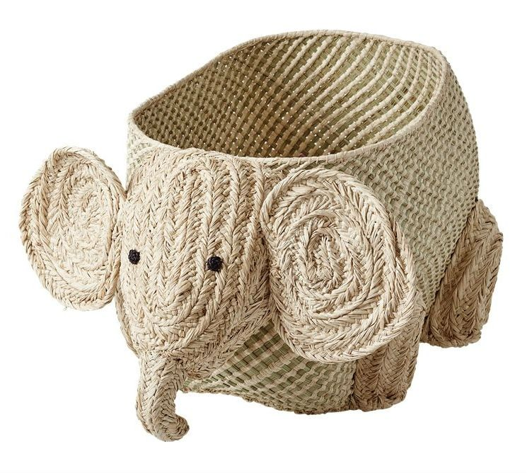 Image of Flettet opbevaringskurv fra Rice - Elefant (BSANI-ELEPH)
