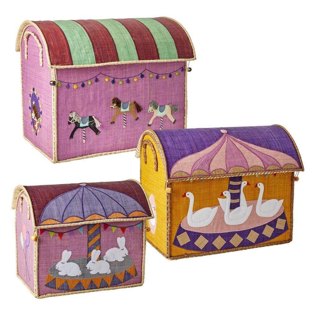 Legetøjskasser fra Rice - Karrusel tema (3 stk)