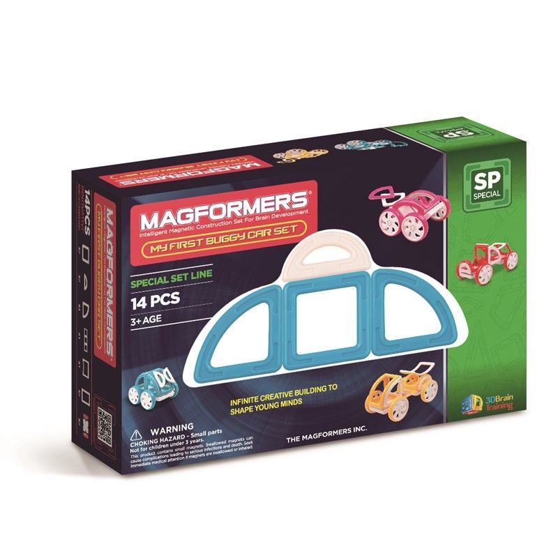 Magnetisk Byggesæt - Magformers My First Buggy Car Blue (14 dele)