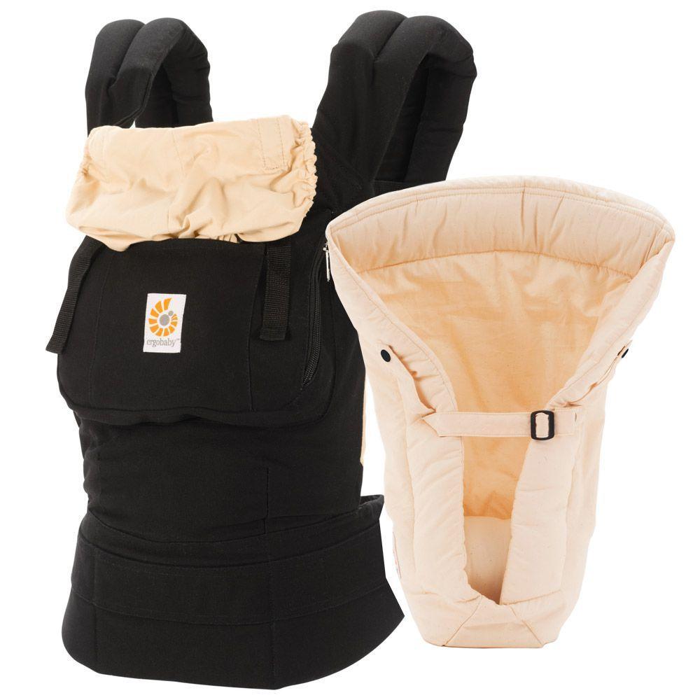 Bæresele fra Ergobaby - Original - Inkl. baby indsats - Black/Camel