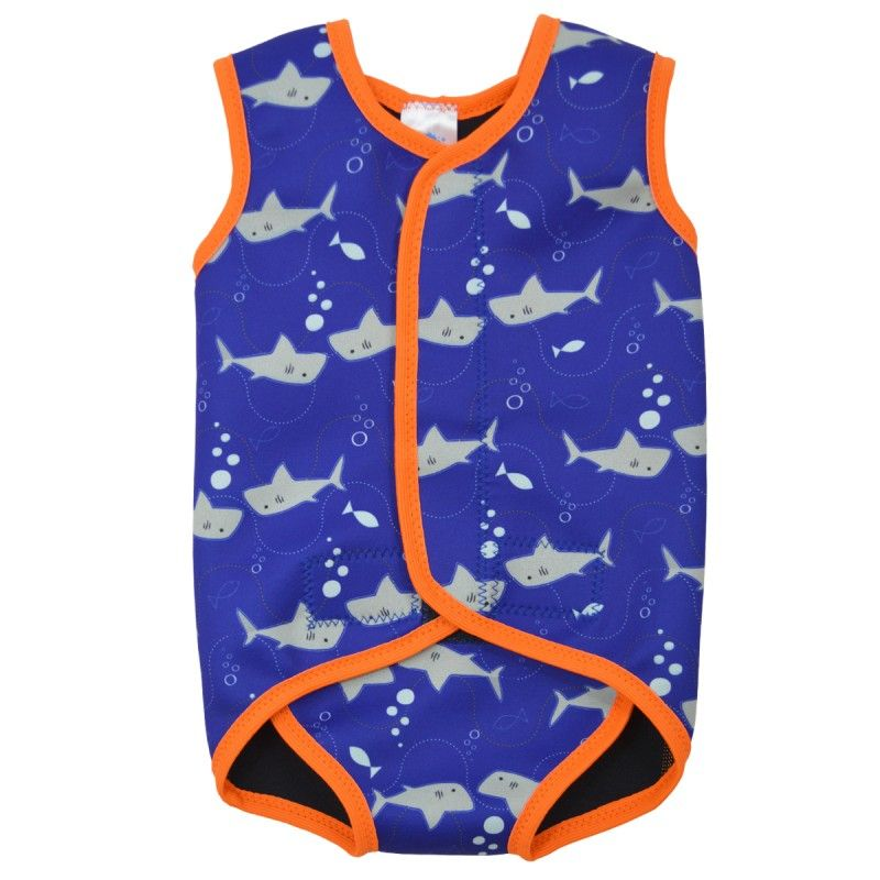 Image of   Baby Wrap fra Splash About - Baby våddragt - Shark
