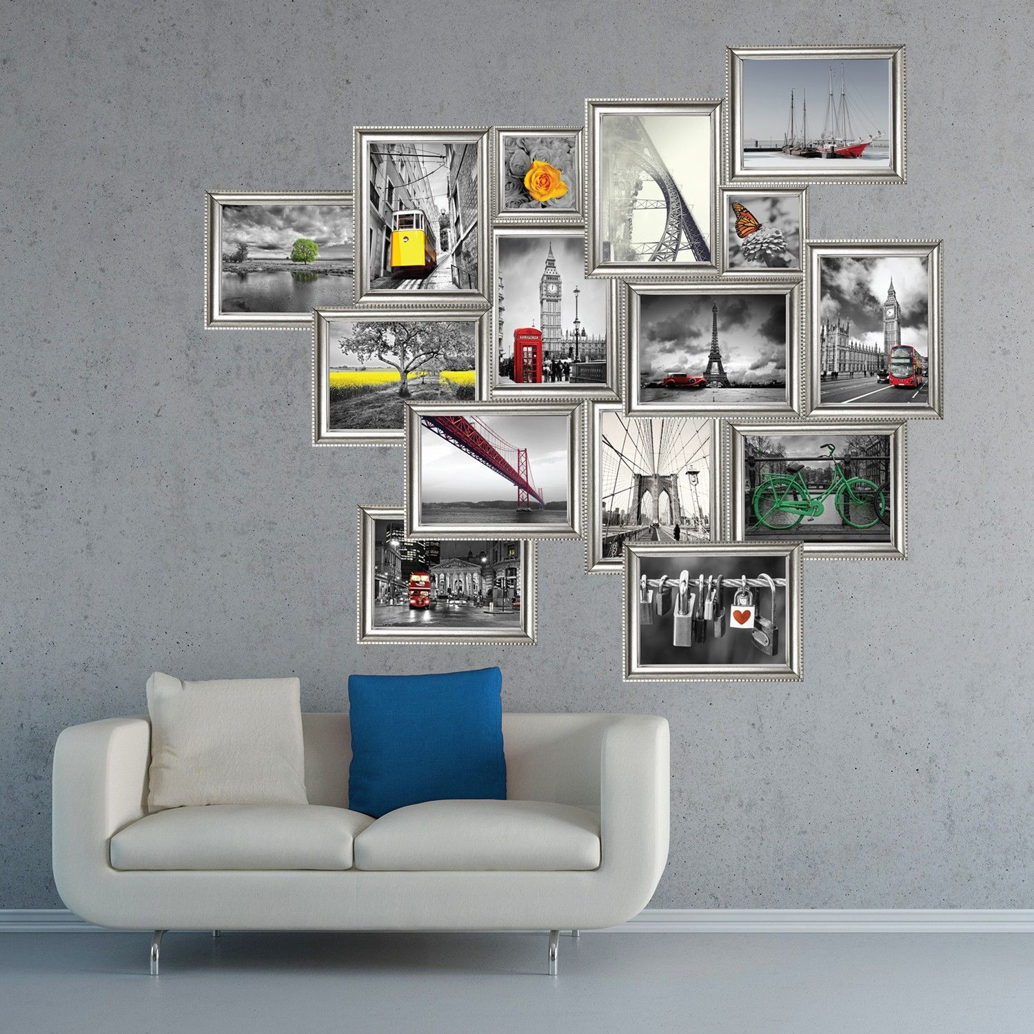 Image of   Wall sticker - Sølvramme Stickers - Landscape Series