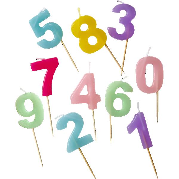 Image of   Fødselsdagslys fra Rice - Assorterede pastelfaver (1 stk)